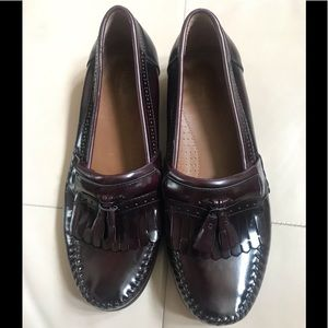 Weejuns G.H. Bass Burgundy Leather Loafers, 12EE